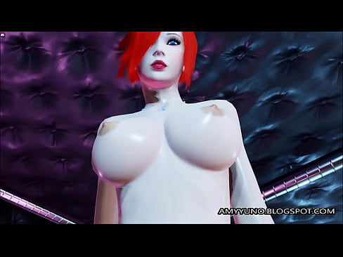 Thick Virtual Emo Redhead With Big Tits Rides On Her BF!'s Thumb