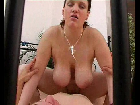 Anyone know who this is?! -- huge tits curvy babe banged and really into it