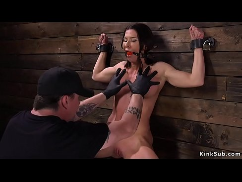 Slave gets dp toyed in device bondage