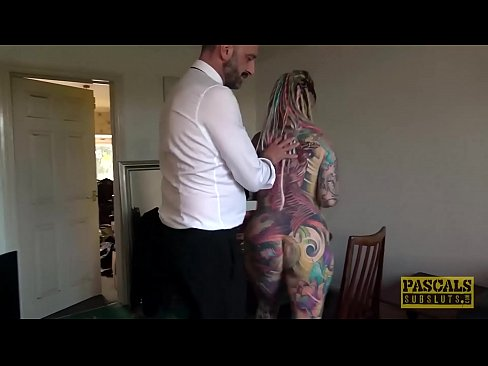 Clip sex Fully tattooed subslut Piggy Mouth slammed by rough dom