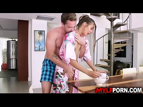 Tara Ashley discovered that her stepson is still a virgin so she gave him a sex lessons and let him pounds her wet MILF cooch.