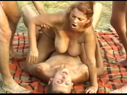 Redhead granny mathilda takes his cock camping 7