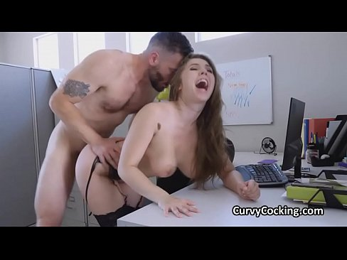 Big tit boss motivates employees with tits and pussy