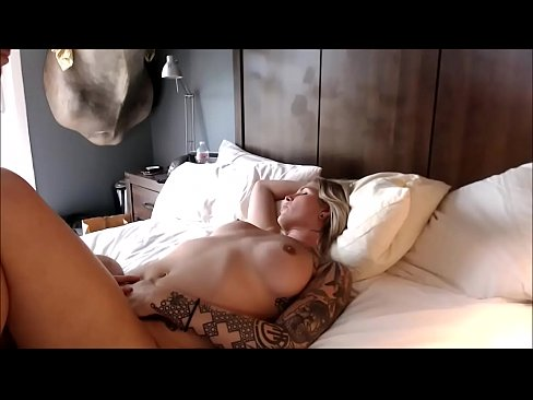 Tattooed Blond Trans Fucked Hard In The Ass