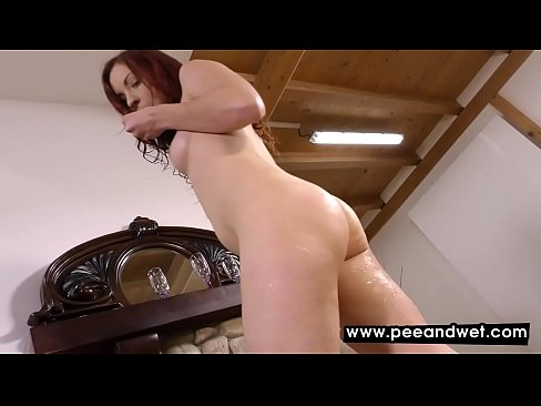 Actually attractive dirty redhead darling hot sshow pissing herself