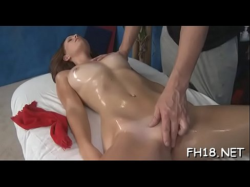 Pretty 18 year old beauty gets fucked hard after a sensual rubdown!