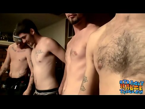 Devin Reynolds and Lex Lane wank with their twink friends