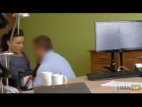 LOAN4K. She forgot why she came to the loan office