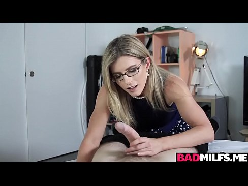 Milf Cory Chase sucking out the frustration of Brick Danger!
