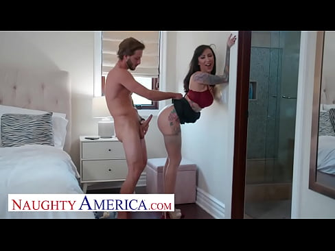Naughty America - Tattooed bombshell, Lily Lane, demands sex from her husband's friend before sending him on his way