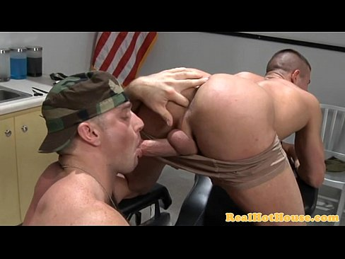 Muscly amateur turns and sucks