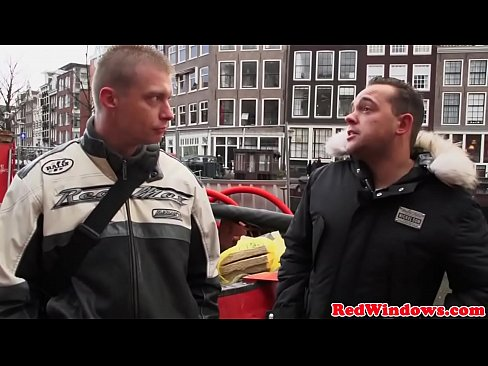 Dutch hooker riding tourist face with pussy
