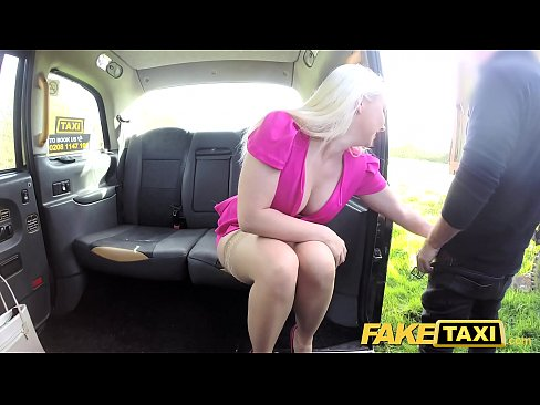 Fake Taxi Hot tv personality takes it hard in London cab's Thumb