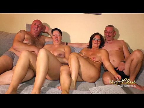 2 swinger couples having fun at home 8