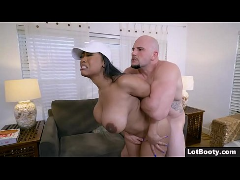 Black Girl with giant boobs gets fucked doggie style