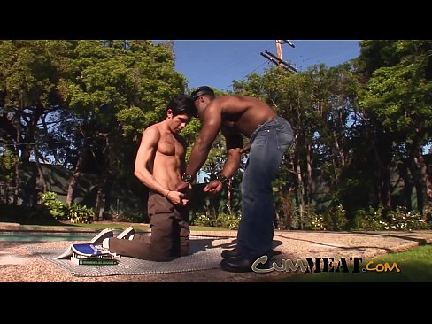 Cum Meat - Horny Muscle Cop Arresting Outside