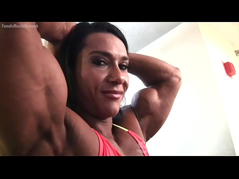 Pro Female Bodybuilder Poses and Shows Off Her Physique