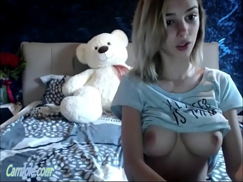 Clip sex Adorable cam teen with big firm tits ohmibod play CamJoie.com