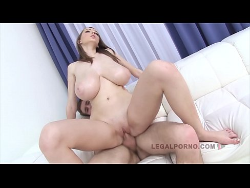 Clip sex Barely legal babe with big natural tits Lucie Wild's anal creampie firstie