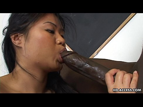 Clip sex Super hot Asian lady gets a big black cock in her cunt