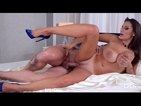 Busty MILF rides thick cock