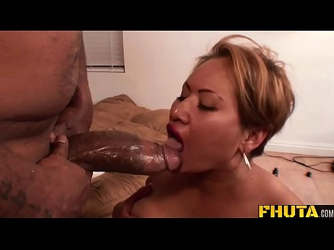 Fhuta - His giant cock stretches her butt hole to the limit