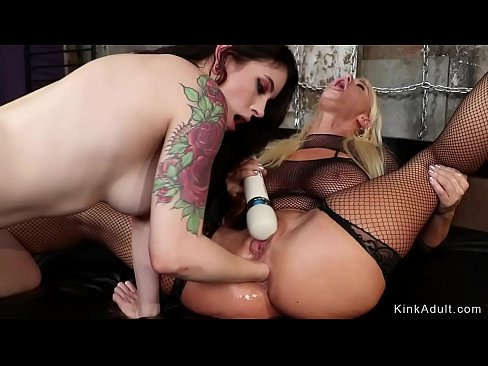 Lesbian student anal fucked with toys