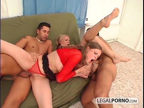 Two Hot Girls Getting Fucked In The Ass By Two Guys With Big Dicks MG-2-04