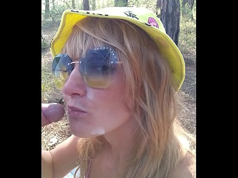Kinky Selfie - Quick fuck in the forest. Blowjob, Ass Licking, Doggystyle, Cum on face. Outdoor sex