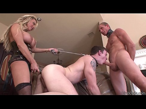 Holly Halston Strapon Fucks Slave