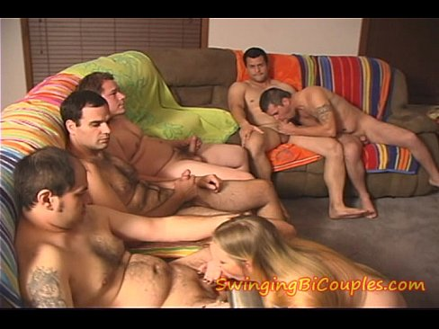 5 BI Guys and one cute SLUT Girl