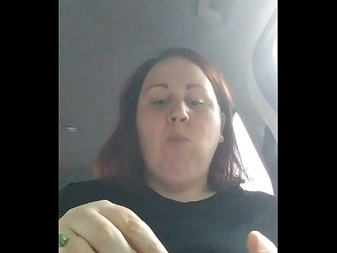Chubby bbw eats in car while getting hit on by stranger