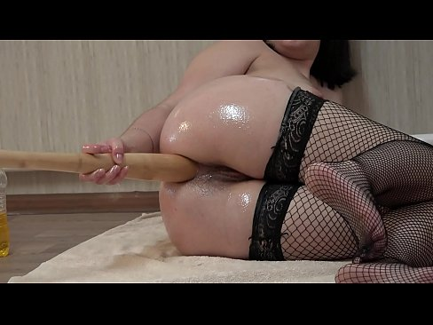 My capacious anal, a huge baseball bat in a juicy ass and anal fisting, amateur masturbation to orgasm.