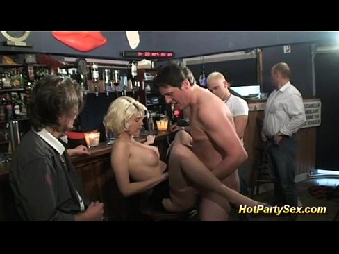 extreme gangbang on the cocktail bar