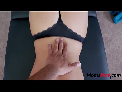 Son massages mom &amp_ she massages his balls's Thumb
