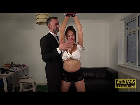 Busty MILF rough fucked by Master