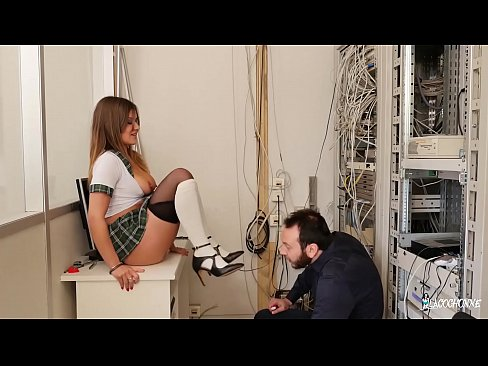 LA COCHONNE – Ass fucking in the principal's office with French Mina Sauvage