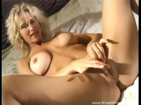 Lonely Blonde Housewife Home Alone
