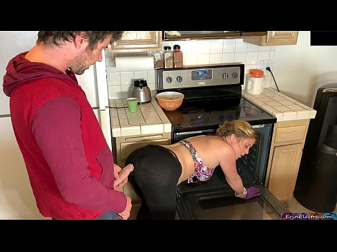Clip sex Stepmom in the kitchen takes stepson's dick after he takes the wrong pills - Erin Electra