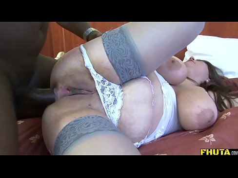 Big beautiful woman fucked up the ass by black cock