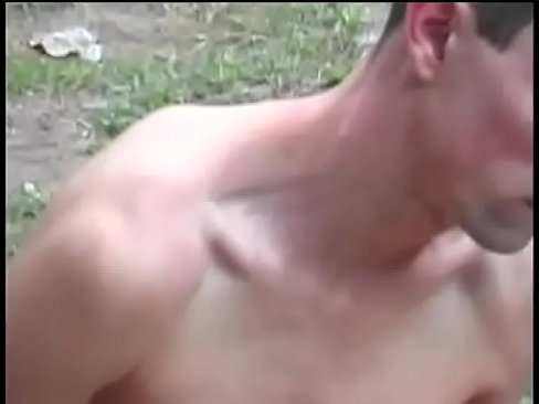 Cute Brazilian tranny Barbara Kysivics allows her slutty  boy to  savour  her massive tool in his button hole outdoors