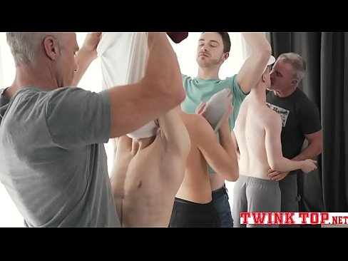 Boys and daddies hottest orgy old vs young bareback gangbang-TWINKTOP.NET