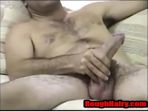 Hairy Rugged Latino Stroking- RoughHairy.com