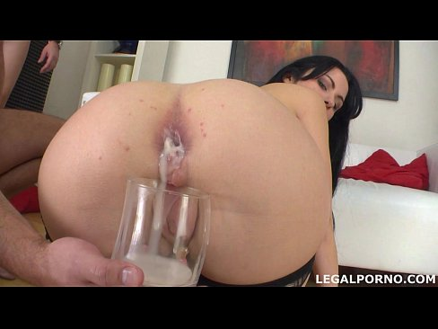 Clip sex Pissing drinking Luna Oara first DAP with creampie, swallow and gapes GIO014
