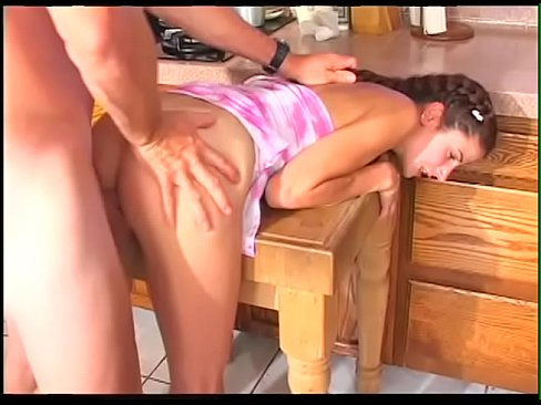 Privat-Schoolgirl pee in her pans-- and than she get fuck inside all holes and creampie