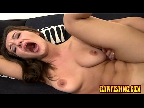 Brunette Enjoys A Firm Pussy Fisting