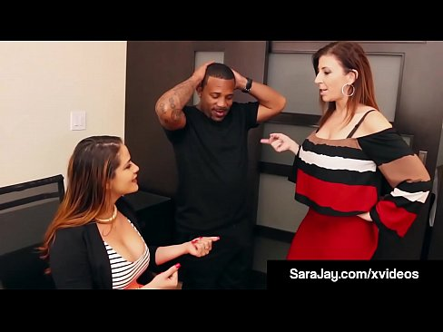 Hot Big Boobed Milf Sara Jay Fixes Grades For Big Black Cock