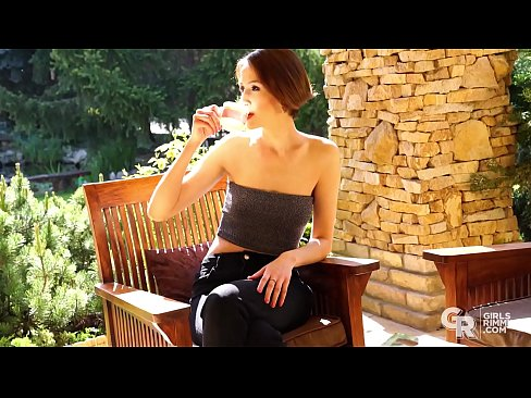 GIRLSRIMMING - Rimming relax with skinny brunette Jessica Night