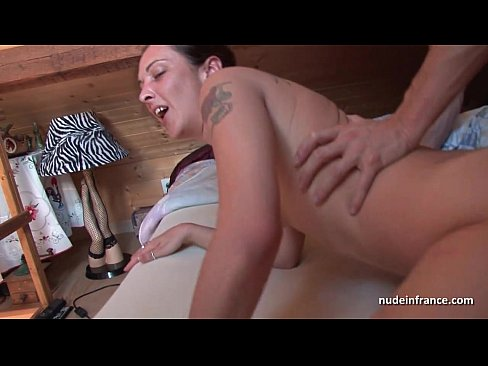 Amateur french milf anal fucked hard and double penetrated with cum to mouth