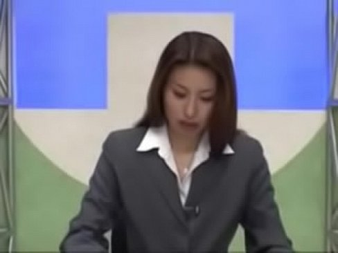 Japanese News Reader Bukkake